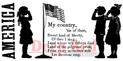 My Country Rubber Cling Stamp by Deep Red Stamps