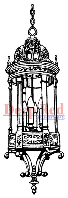 Foyer Lantern Rubber Cling Stamp by Deep Red Stamps