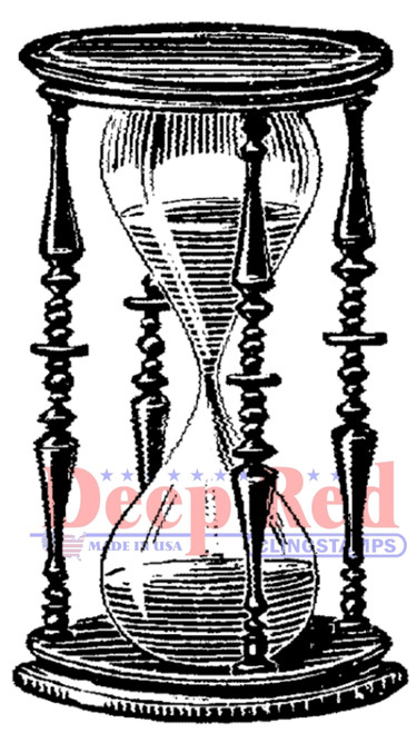 Hourglass Rubber Cling Stamp by Deep Red Stamps