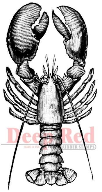 Lobster Rubber Cling Stamp by Deep Red Stamps