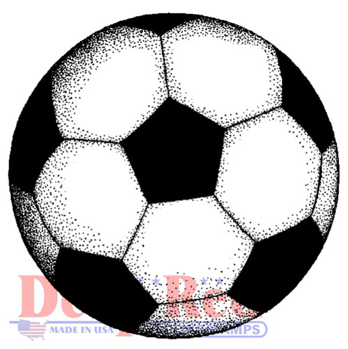 Soccer Ball Rubber Cling Stamp by Deep Red Stamps