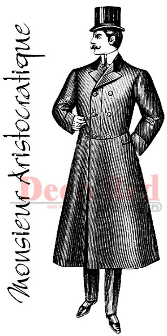 Victorian Gentleman Rubber Cling Stamp by Deep Red Stamps