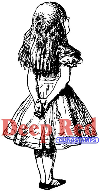 Alice Standing Rubber Cling Stamp by Deep Red Stamps