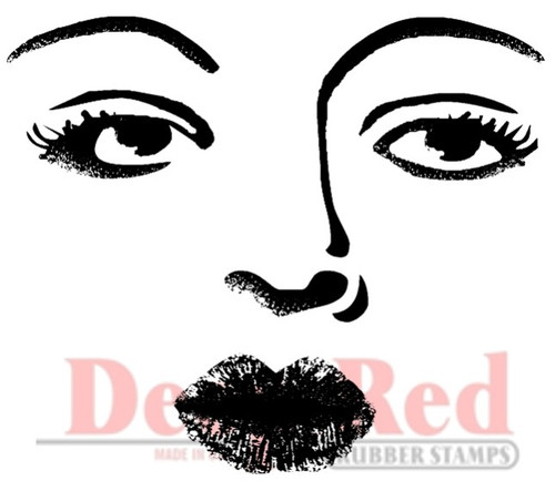 Bette Davis Eyes Rubber Cling Stamp by Deep Red Stamps