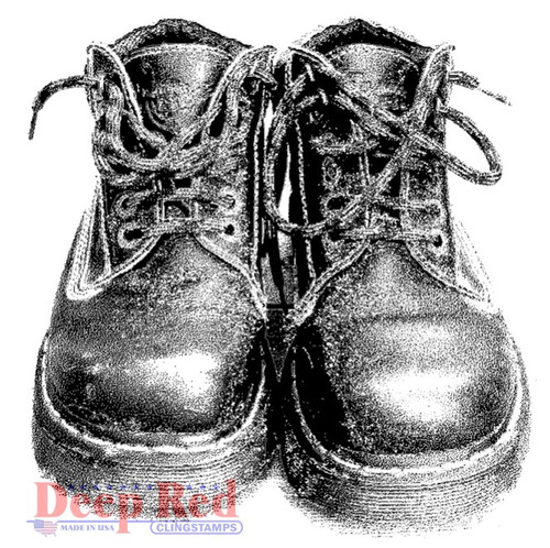 Doc Martins Rubber Cling Stamp by Deep Red Stamps
