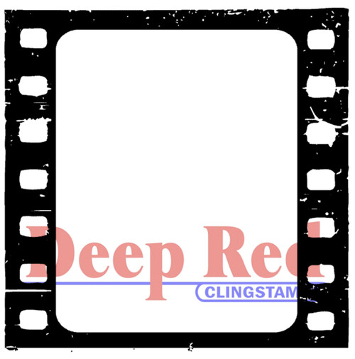 Filmstrip Rubber Cling Stamp by Deep Red Stamps