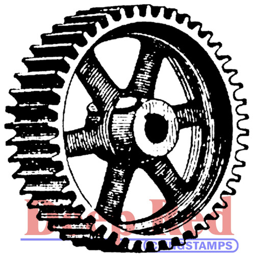 Heavy Gear Rubber Cling Stamp by Deep Red Stamps