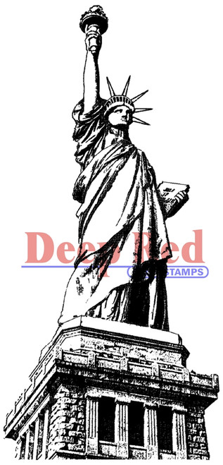Statue of Liberty Rubber Cling Stamp by Deep Red Stamps