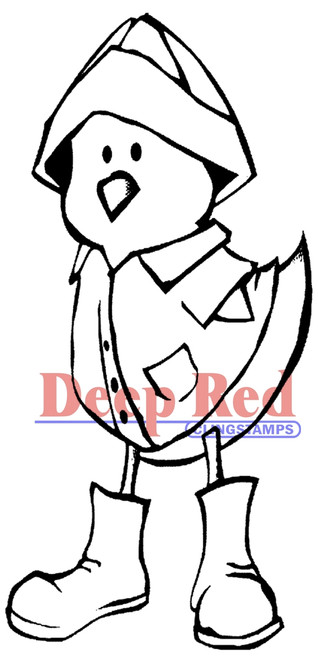 Ducky Watertight Rubber Cling Stamp by Deep Red Stamps
