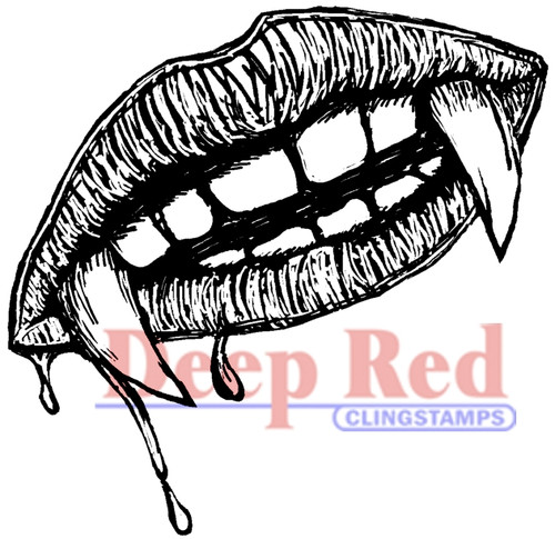 Vampire SWAK  Rubber Cling Stamp by Deep Red Stamps