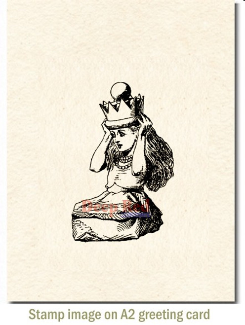 Queen Alice Rubber Cling Stamp by Deep Red Stamps shown on A2 card