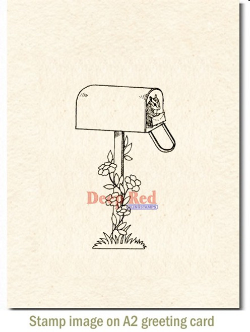 Letter for You Rubber Cling Stamp by Deep Red Stamps shown on A2 card