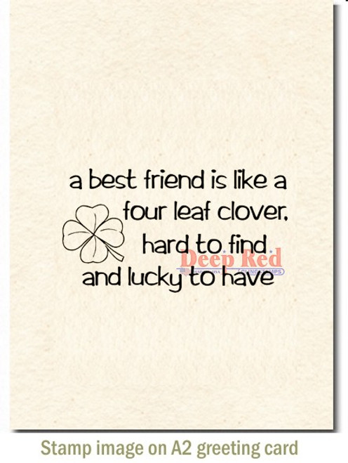 A Best Friend Is Rubber Cling Stamp by Deep Red Stamps shown on A2 card