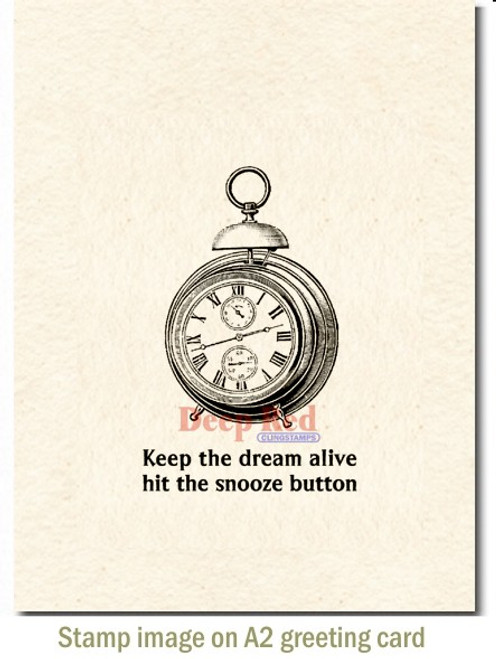 Keep the Dream Alive Rubber Cling Stamp by Deep Red Stamps shown on A2 card