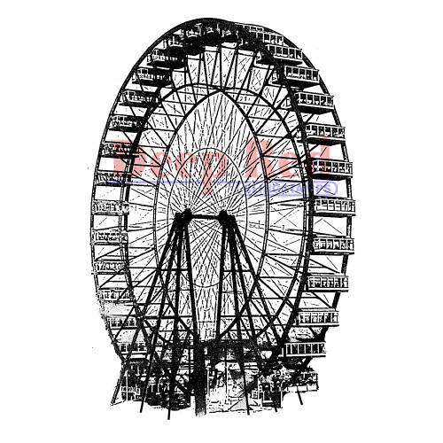 Ferris Wheel Rubber Cling Stamp