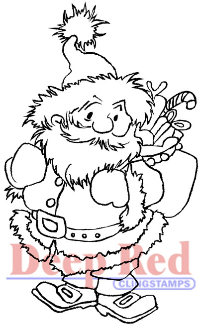 Julenissen Rubber Cling Stamp by Deep Red Stamps