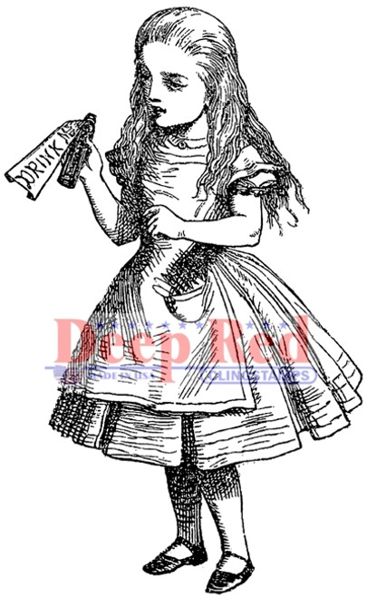 Alice Potion Rubber Cling Stamp by Deep Red Stamps