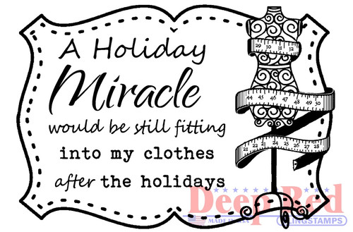 Holiday Miracle Rubber Cling Stamp by Deep Red Stamps