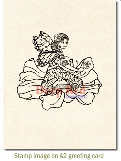 Rubber Cling Stamp by Deep Red Stamps shown on A2 card