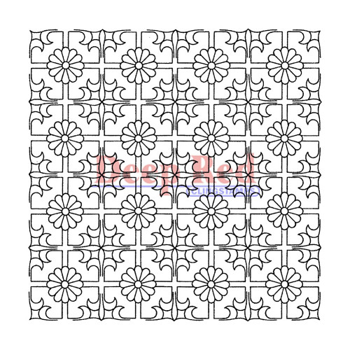Chinese Lattice Rubber Cling Stamp