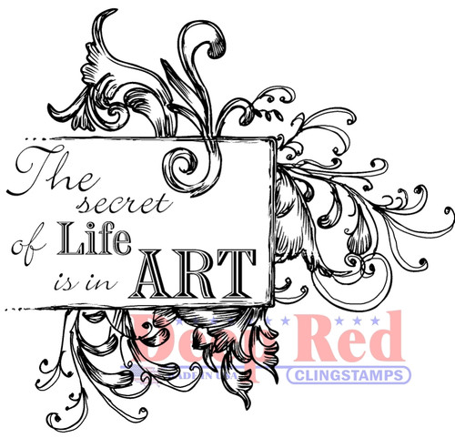 Secret of Life Rubber Cling Stamp by Deep Red Stamps