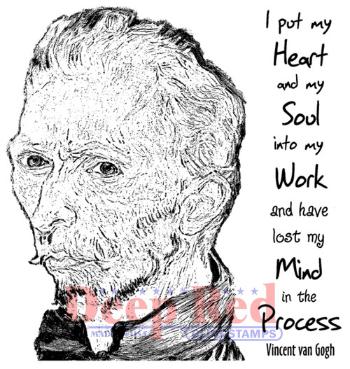 Lost My Mind Rubber Cling Stamp by Deep Red Stamps