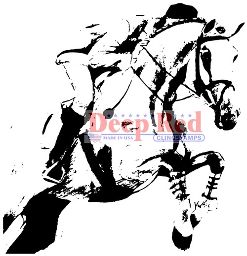 Steeplechase Rubber Cling Stamp by Deep Red Stamps