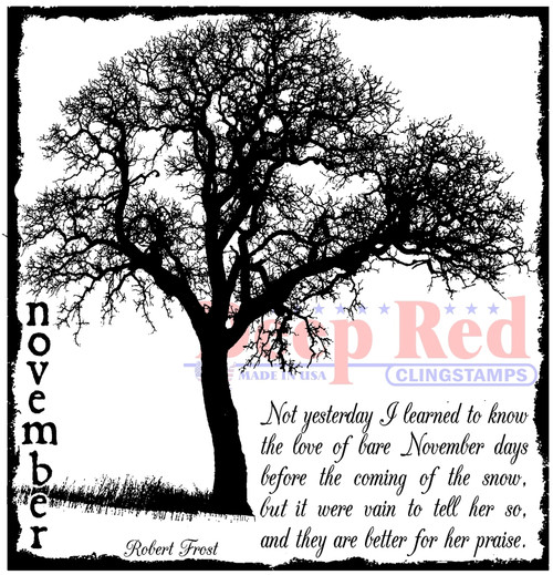 November Frost Rubber Cling Stamp by Deep Red Stamps