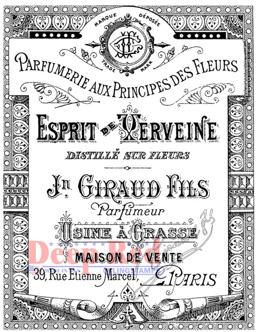 Esprit Parfumerie Label Cling Stamp by Deep Red Stamps