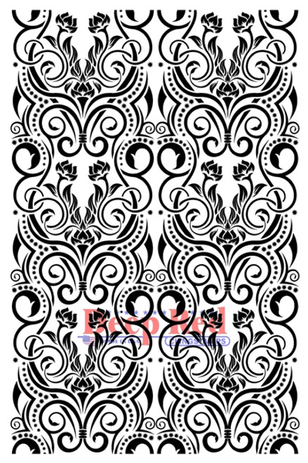 Vintage Swirls Cling Stamp by Deep Red Stamps