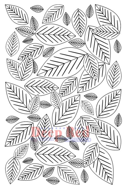Leaves Background Cling Stamp by Deep Red Stamps