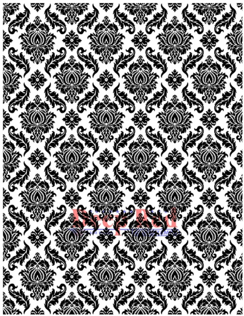 Damask Rubber Cling Stamp by Deep Red Stamps