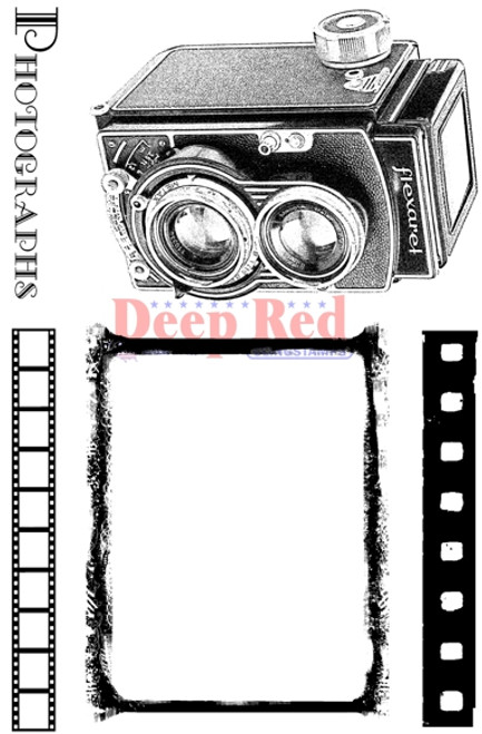 Vintage Photo Frame Rubber Cling Stamp by Deep Red Stamps