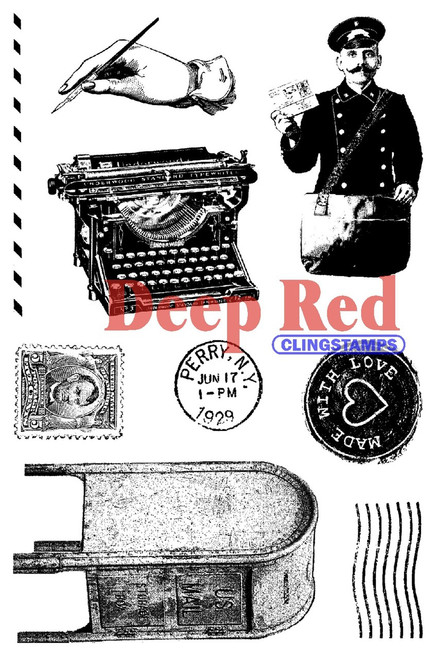Rubber Cling Stamp by Deep Red Stamps