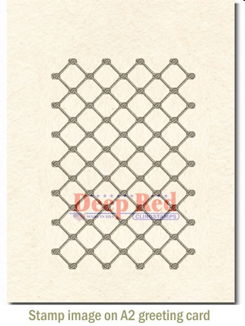 Fishing Net Rubber Stamps