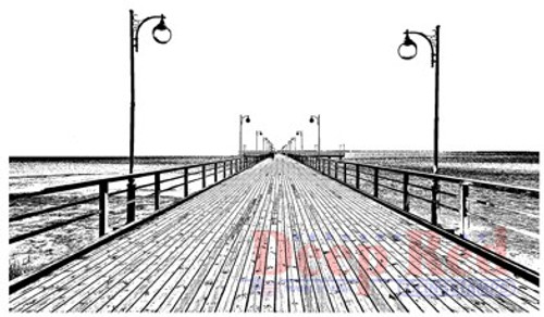 Deep Red Stamps Boardwalk Rubber Cling Stamp