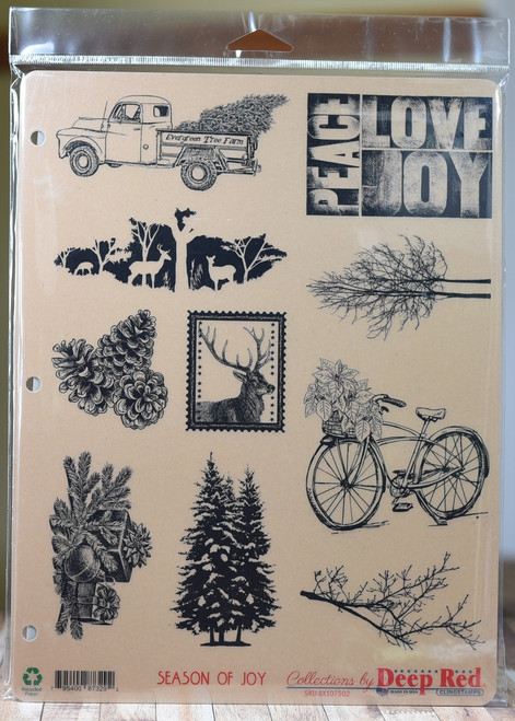 Season of Joy 10 cling stamp collection 3 ring binder storage card