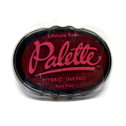 Nice rich red hybrid ink. Use with rubber and clear stamps.