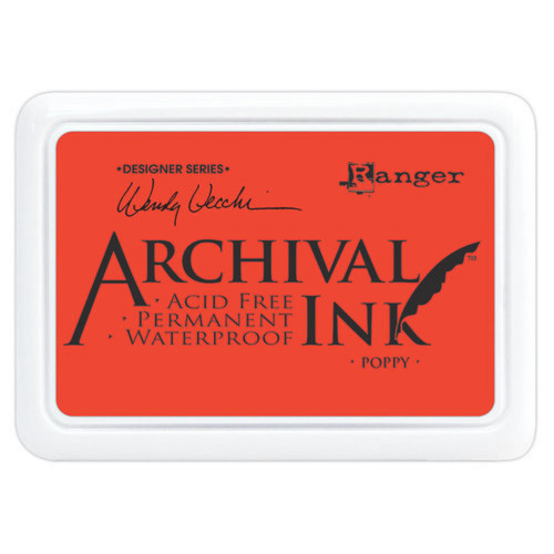 Ranger Archival Poppy Ink Pad by Wendy Vecchi