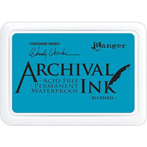 Ranger Archival Bluebird Ink Pad by Wendy Vecchi