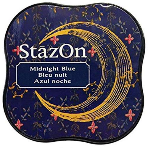 StazOn Midi Midnight Blue Ink Pad
