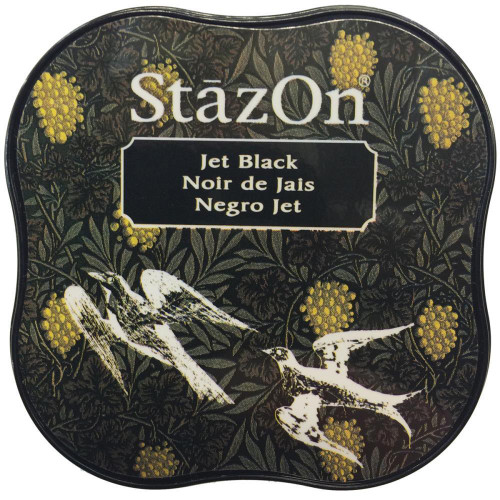 StazOn Midi Jet Black Ink Pad