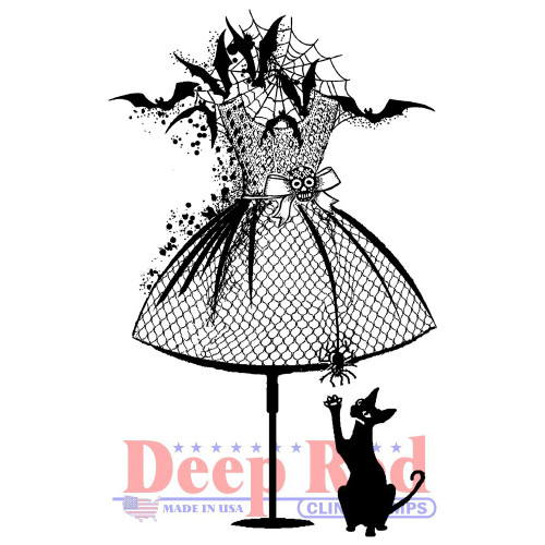 Halloween Dress Form Rubber Cling Stamp by Deep Red Stamps