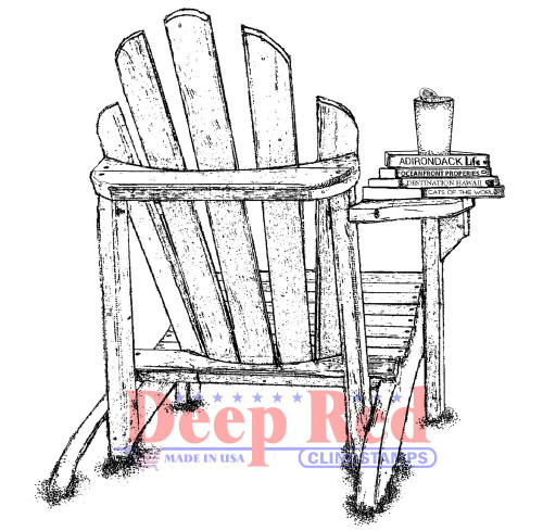 Adirondack Life Rubber Cling Stamp by Deep Red Stamps