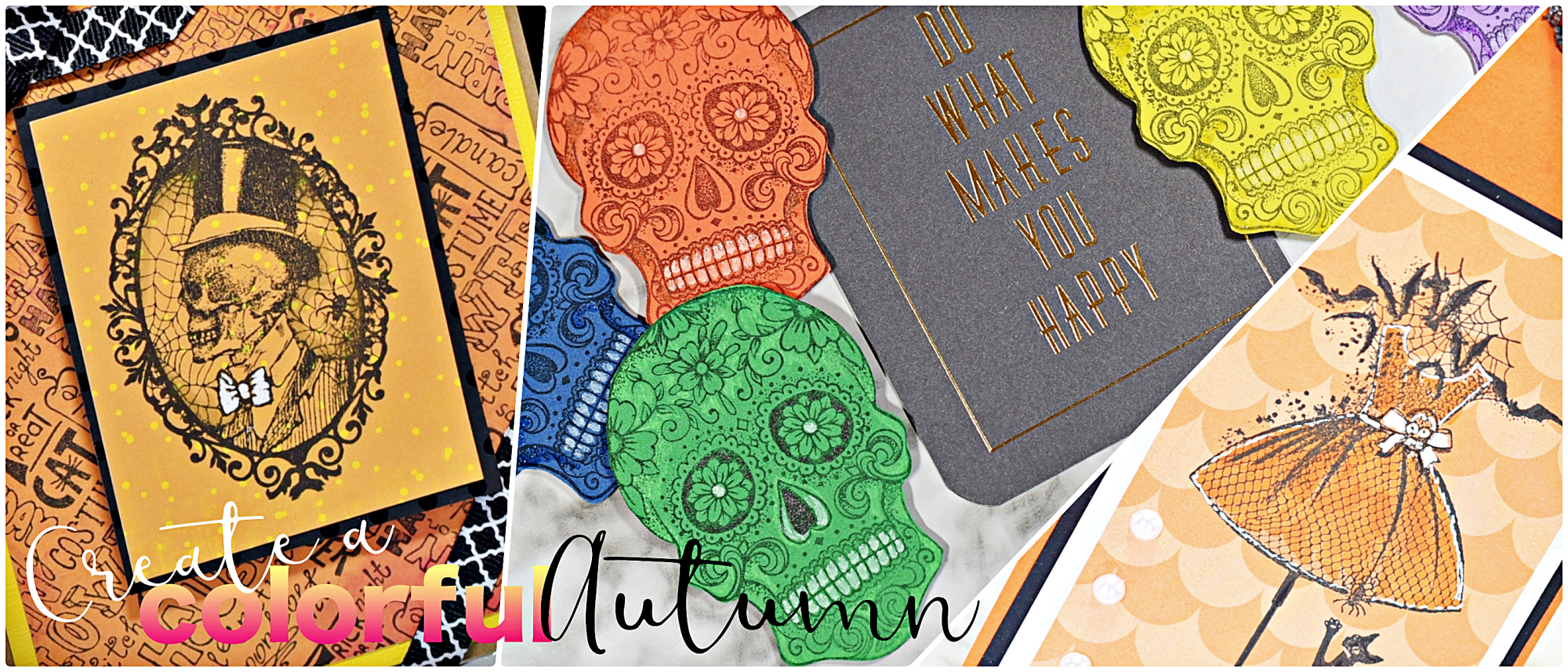 cobweb cameo and other halloween stamps