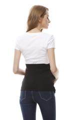 Radia Smart Shielding Belly Band-Black back view