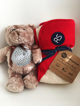 New Baby Bundle Deal Radiation Shielding Organic Cotton Blanket + Baby Sleep Soother Lullaby Teddy Bear
