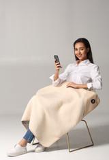 "Large Protective Belly Pregnancy Baby Blanket, Organic, Anti-Radiation, EMF Blanket, 43""x35"", 110cmx90cm"