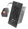 Power Strip with dual USB charging station with ground fault protection