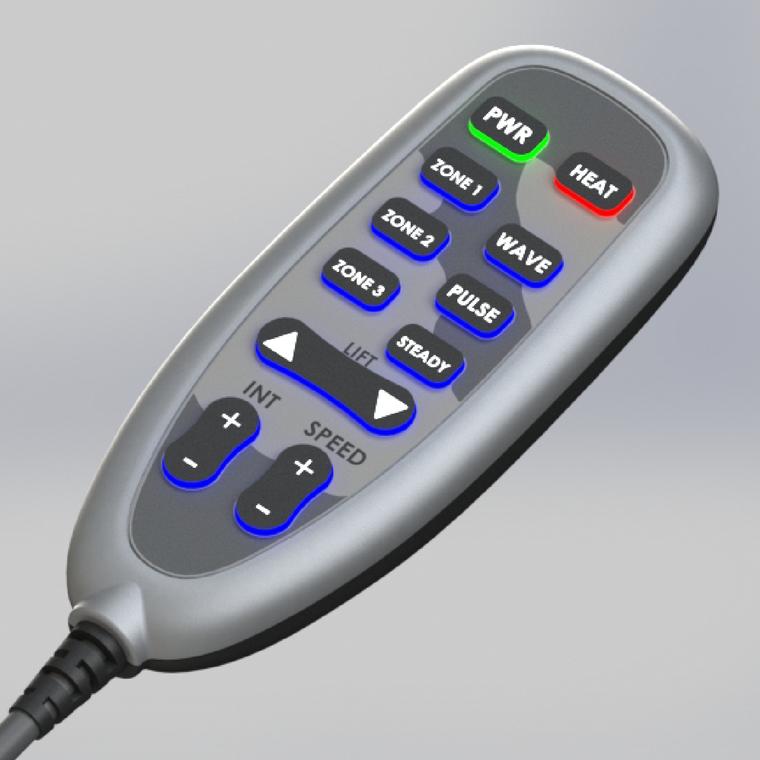Power Recline Control w/ Heat & Massage